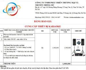 cho thuê bộ karaoke g=dùng cho khoảng 30 người