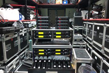 Hình ảnh kho trang thiết bị của công ty cung cấp dàn hát karaoke đẳng cấp