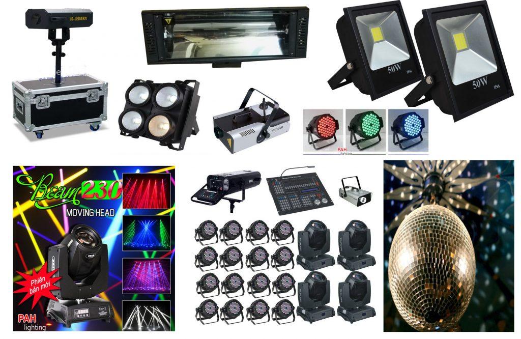 CHo thuê ánh sáng các loại đèn chuyên dụng cho sân khấu biểu diễn văn nghệ