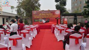 lắp dáp sân khấu cho lễ trao giải ngân hàng agribank tại Trần Phú