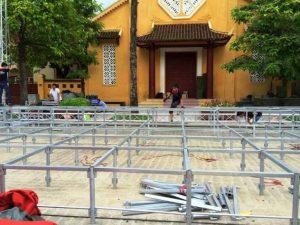 Hình ảnh thực tế Thi Công Lắp Dựng Sàn Sân Khấu