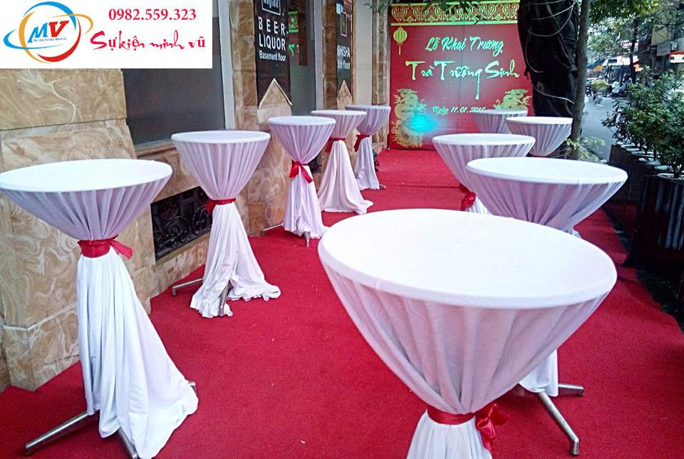 Cho Thuê Bàn Coctail kích thước 065 x 1,2m
