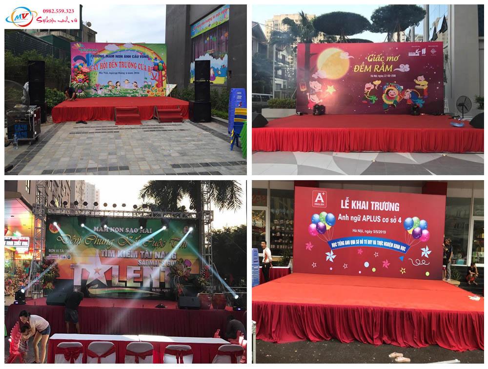 Cho Thuê Sân Khấu Bachdrop Âm Thanh Ánh sáng do Minh Vũ tổ chức